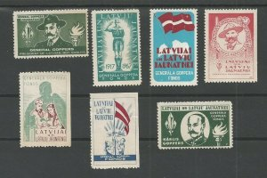Latvia Boy Scout lot 7 labels General Gompers