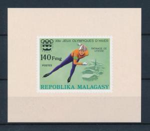 [55765] Madagascar 1975 Olympic games Speed skating MNH Sheet