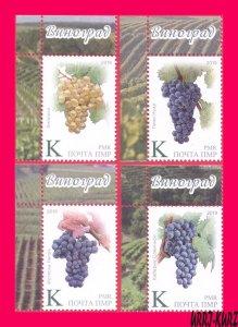 TRANSNISTRIA 2019 Flora Fruits Agriculture Viticulture Grape Wine Winemaking 4v