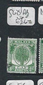 MALAYA KEDAH  (P2206B) LEAF  8C  SG 81AB   MOG