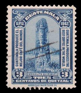 GUATEMALA STAMP 1942 SCOTT # 303. USED.