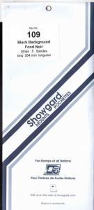 Showgard Stamp Mounts Size 109/264 BLACK Background Pack of 5