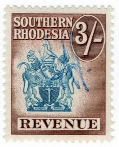 (I.B) Southern Rhodesia Revenue : Duty Stamp 3/-
