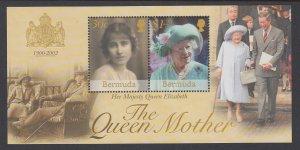 Bermuda 836 Queen Mother Souvenir Sheet MNH VF