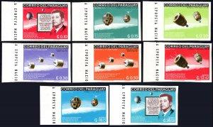 Paraguay 994-1001,Imperf.MNH. John F. Kennedy, 3rd death anniv.Satellites, 1966