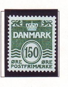 Denmark Sc 692 1982 150 ore dark green wavy lines stamp mint NH