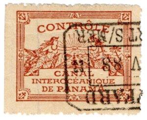 (I.B) Panama Revenue : Canal Interoceanique Controle (Paris 1889)