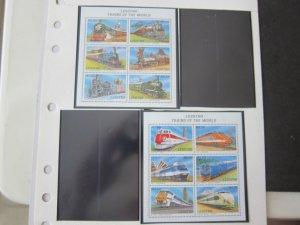 Lesotho 1996 Sc 1958-9 Train set MNH