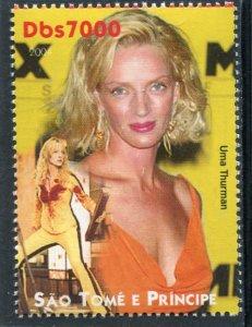 Sao Tome & Principe 2004 UMA THURMAN American Actress 1v Perforated Mint (NH)
