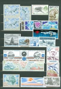 EDW1949SELL : F.S.A.T. Nice collection of all VF MNH sgls & sets. Scott Cat $134