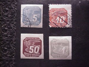 1943 BOHEMIA AND MORAVIA 5H,10H,50H,1K STAMPS MH &1 USED