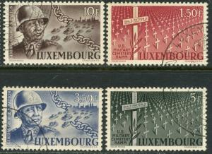 LUXEMBOURG Sc#242-245 1947 General Patton Complete Set Used