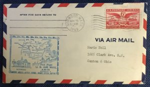 US First Flight Cover AM 79 Norwood MA to Springfield MA 11/16/1949 #C40 L19