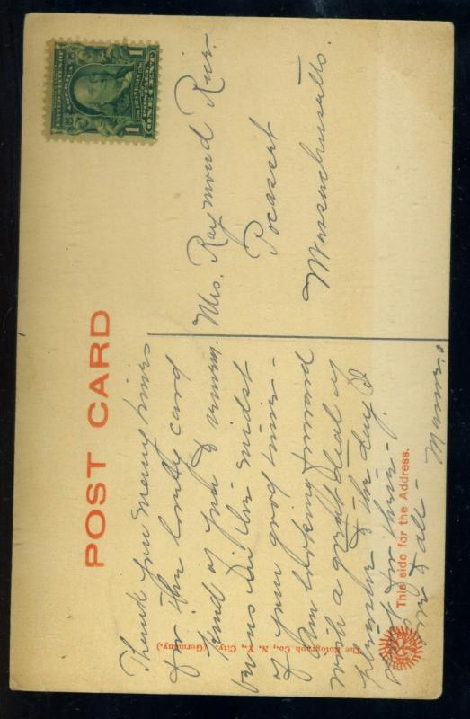 1905 Postcard of Emersons Grace with Unused #300 EstVal$7-10