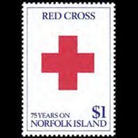 NORFOLK IS. 1989 - Scott# 461 Red Cross 75th. Set of 1 NH