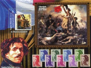 Sao Tome & Principe 2010 EUGENE DELACROIX Paintings s/s Perforated Mint (NH)