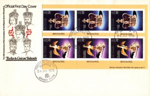 Turks and Ciacos 354e Booklet Pane U/A FDC