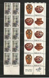 USA Stamps #1702,1709 Blocks of 10