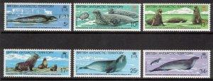 BRITISH ANTARCTIC 1983 Seal Conservation; Scott 96-101, SG 113-18; MNH