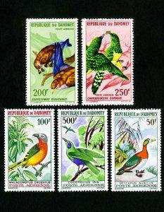Dahomey Stamps # C33-7 VF Birds OG NH Scott Value $40.00