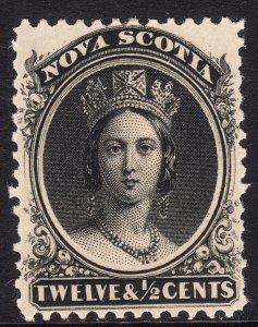 1860-63 Canada Nova Scotia Queen Victoria QV 12½¢ MMHH Sc# 13 CV $42.50 Stk #1