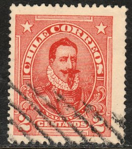 Chile 128, 2c Valdivia. Used. F-VF. (559)