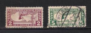 Austria Special Handling 1917 Scott# QE3-QE4 Used