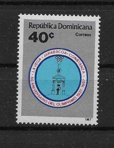 DOMINICAN REPUBLIC STAMP MNH #JULIO CV9