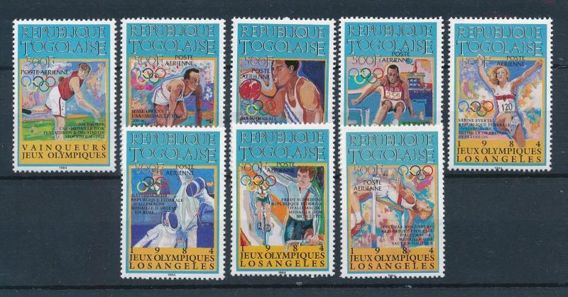 [75430] Togo 1984 Olympic Games Los Angeles Cycling Fencing Athletics  MNH