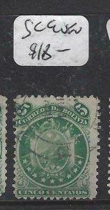 BOLIVIA  (P1606B)    SC 9    VFU