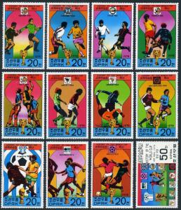 Korea 1698-1709,1709a,1710,MNH.Mi 1733-1744,klb,Bl.49. Soccer Cup Argentina-1978