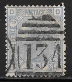 Great Britain Scott #68 plate 19 used 2017 SCV $65.00 -not blurry as scan shows