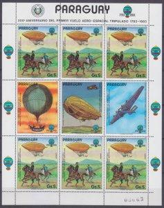 1984 Paraguay 3704KL Zeppelin 14,00 €