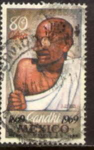 MEXICO C352, Centenary birth of Mahatma Gandhi. Used (1171)