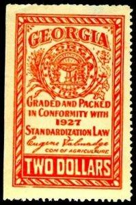 U.S. GEORGIA  ST. REVS FR3  Mint (ID # 27654)