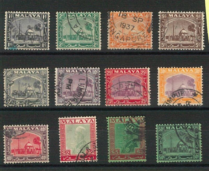 60787 -  MALAYA: Perlis  - STAMPS:  SG # 29 / 40  UNCOMPLETE  Used - VERY FINE!!