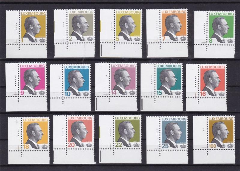 luxembourg 1993 mnh margin stamps set £40  ref 7527