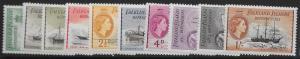FALKLAND IS.DEP. SGG26/35 1954 DEFINITIVE SET TO 1/= MTD MINT