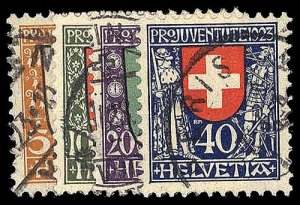 SWITZERLAND B25-28  Used (ID # 93493)