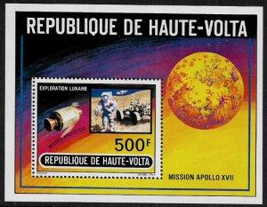 Burkina Faso #294 MNH S/Sheet - Apollo 17 - Space - Moon Walk