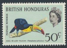 British Honduras SG 210 SC # 175 MLH  Birds Toucan  see scans