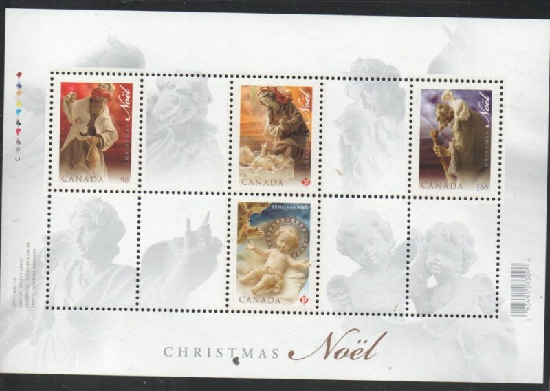 Canada Sc 2343 2009 Christmas stamp sheet  mint NH