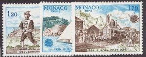 Sc# 1178-80 - Monaco - 1979 - Europa Cept - MNH - superfleas - cv$11.25