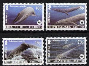 British Antarctic Territory 2003 WWF - Blue Whale  set of...