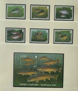 JE101) Jersey 2010 Freshwater Fish (6) + M/S MUH