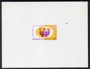 Upper Volta 1972 Red Cross imperf deluxe souvenir  sheet ...