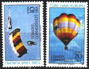 Turkey. 1985. 2703-4. Parachute, balloon. MNH.