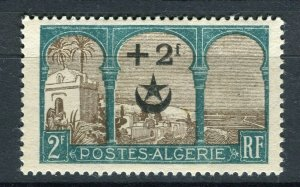 FRENCH; ALGERIA 1927 Wounded Soldiers issue fine Mint hinged 2Fr. value