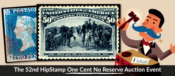 The 52nd HipStamp One Cent Auction Event