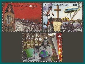Nauru 2000 New Millennium, MNH (70c flt) #474-476,SG506-SG508